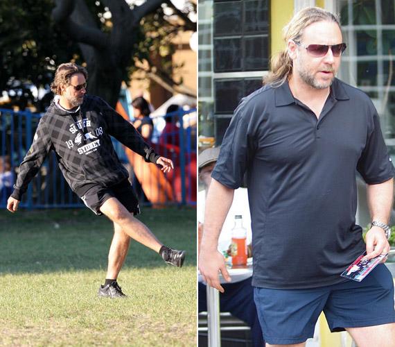 A híres színész sok sporttal, például focival és lovaglással szabadult meg terjedelmes pocakjától.