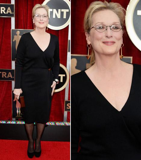 Meryl Streep                         A 65 éves színésznőt 2015-ben már 19. alkalommal jelölték Oscar-díjra. A SAG-gálára Lanvin ruhát választott Fred Leighton ékszerekkel.
