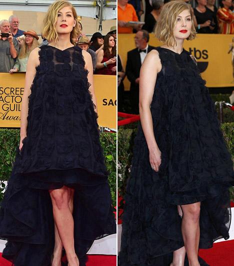 Rosamund Pike                         A Holtodiglan sztárja idén nem kápráztatta el a közönséget megjelenésével, egy különleges Christian Dior ruhát választott az estélyre.