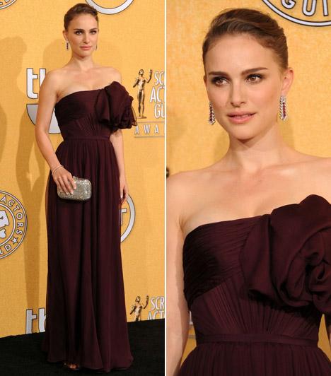 Natalie Portman  Az Oscar-díjas színésznő ismét a szolid elegancia mellett döntött, bordó Giambattista Valli ruháját Harry Winston ékszerekkel dobta fel, táskáját pedig Judith Leibernél választotta.  Kapcsolódó képgaléria: A 2011-es Oscar-gála legdögösebb sztárjai »