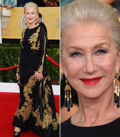 Helen Mirren                         A Királynőért Oscar-díjat kapott színésznő a SAG-gálára Escada kreációban érkezett.