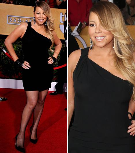 Mariah Carey                         Természetesen nem hiányozhatott az átadóról Mariah Carey sem, aki egy Saint Laurent miniben borzolta a kedélyeket.