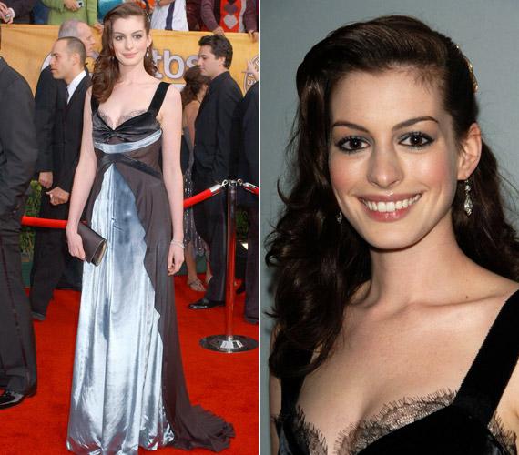 Anne Hathaway 2006-os ruhája inkább emlékeztetett hálóingre, mint estélyire.