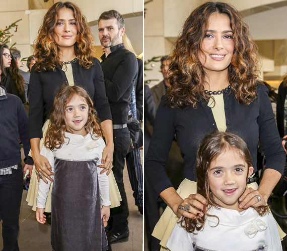 Salma Hayek lánya, Valentina nem egy született szépség, bár az idővel még biztos finomodni fognak a vonásai.
