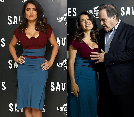 Legújabb filmjük, a Savages bemutatóján Oliver Stone-t is megdelejezték Salma Hayek idomai. A rendező sokak szerint azért túllépett egy határt, amikor 2012 szeptemberében fogdosni kezdte a 46 éves mexikói szépséget.