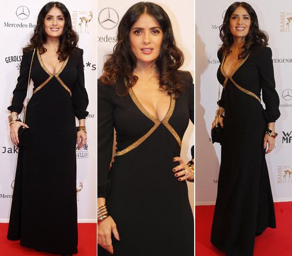 A 2012. novemberi Bambi-díjátadón fekete estélyi ruhájának arany betéte vezette a pillantásokat sokat irigyelt idomaira.