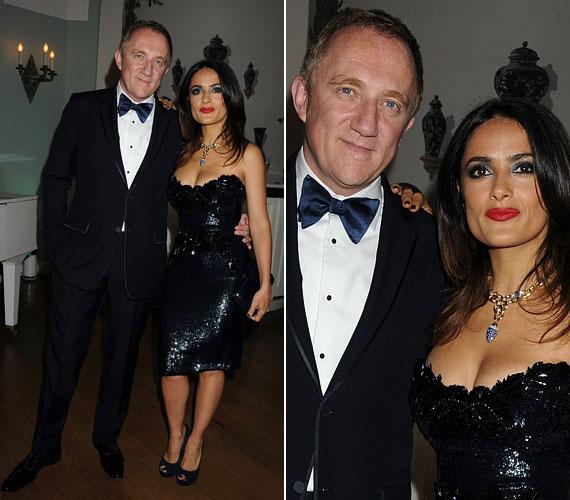 A másnapi partin azonban ő volt az est szépe: csillogó fekete ruhájában feltűnő jelenség volt.