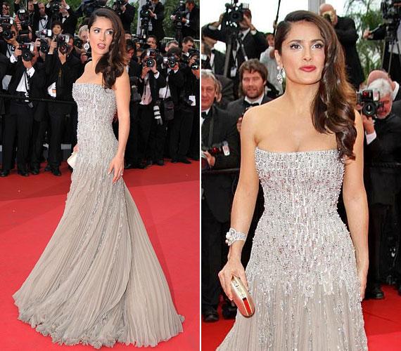A tavalyi filmfesztiválon szerencsésebb volt a választása: ezüst, pánt nélküli ruhája finom és nőies volt.