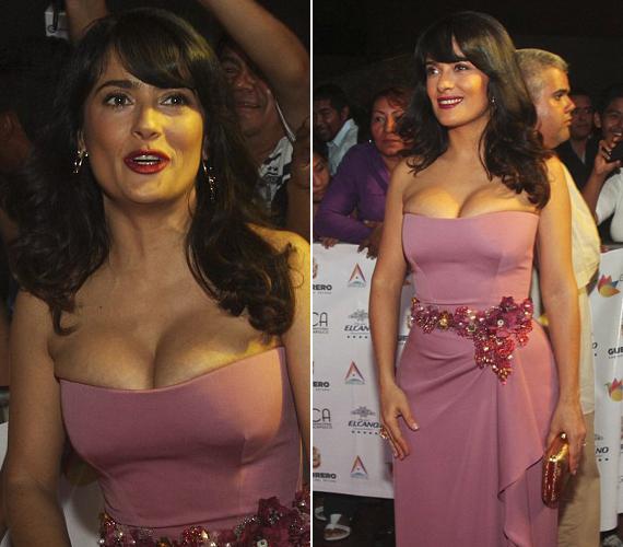 A 46 éves színésznő nagyon büszke telt idomaira, ezt pedig nem győzi hangsúlyozni. Ez a ruha azonban talán már túlzás.