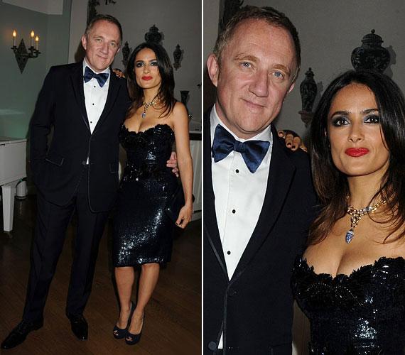 Az idei cannes-i filmfesztivál egyik partiján ebben a mesés, csillogó koktélruhában jelent meg milliárdos férje, François-Henri Pinault oldalán.