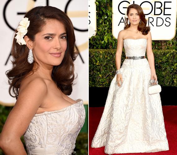 Idén a Golden Globe-díjátadón is bekerült a gála legjobban öltözött sztárjai közé. Nem csoda, kislányosan bájosan festett elegáns, fehér ruhájában.