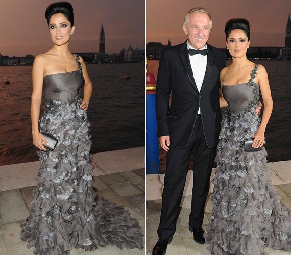 Szeptemberben szintén férje, François-Henri Pinoult oldalán tette tiszteletét a Gucci Award for Women in Cinema díjátadón, ahol egy ezüst estélyiben ragyogott.