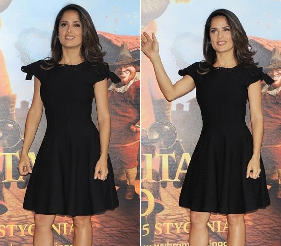 Októberben a Csizmás, a kandúr című film premierjén egy fekete ruhában mutatta meg bámulatos alakját.