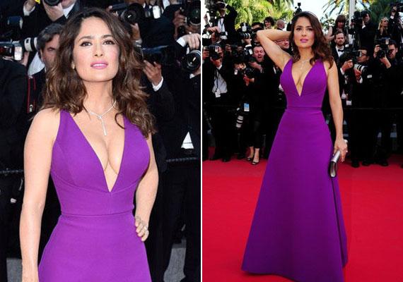 Talán sokan emlékeznek erre a lila kreációra, amit a színésznő az idei cannes-i filmfesztiválon viselt. Gucci ruhájáról még napokig beszéltek az esemény után.