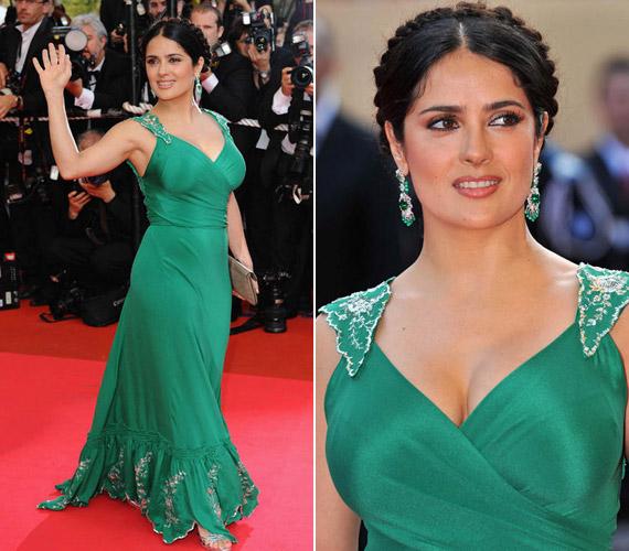 2008 májusában Cannes-ban tűnt fel szintén zöldben, bár ez a megjelenése nem nyűgözött le mindenkit.