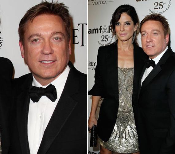 Az 57 éves férfi nem más, mint Kevin Huvane, Sandra ügynöke, aki egyébként Julianne Moore-t, Meryl Streepet és Keanu Reevest is képviseli.