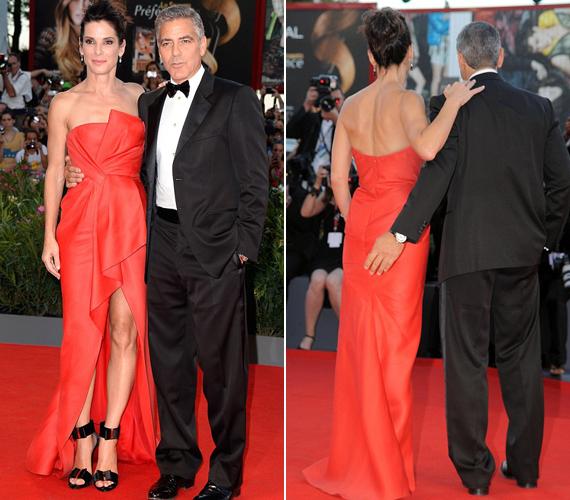 Sandra Bullock és George Clooney baráti viszonyba kerültek a forgatás alatt, és a képek szerint ebbe már a fenéktapizás is belefér.