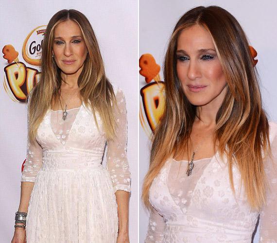A 49 éves Sarah Jessica Parker olyan lett, mintha mindig hunyorogna.