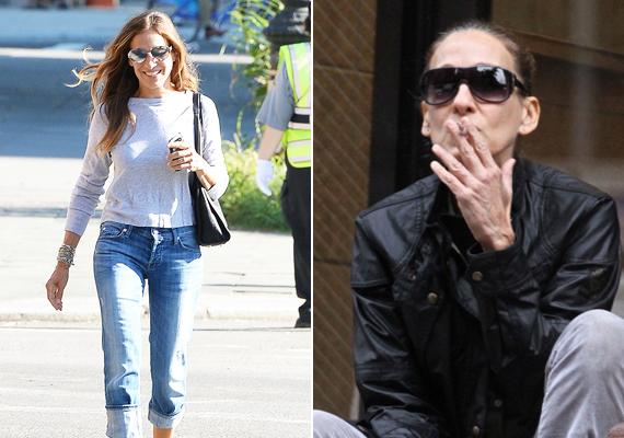 A két fotó idén készült. A színésznő kezén észrevehető, hogy az utóbbi időben ismét leadott néhány kilót - feleslegesen.