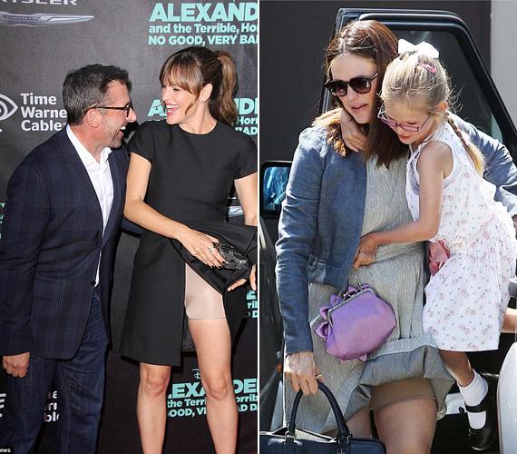 A háromgyermekes színésznő, Jennifer Garner legújabb filmje, az Alexander And the Terrible, Horrible, No Good, Very Bad Day hollywoodi premierjén is megmutatta, mi van a szoknyája alatt.