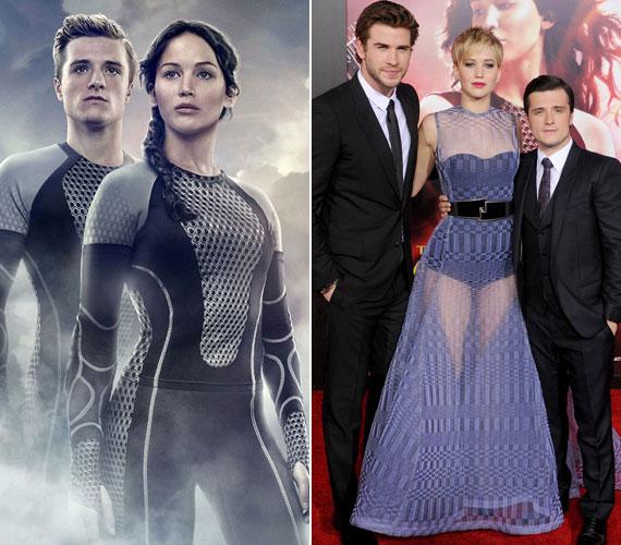 Az Éhezők viadala második részének plakátján nem Jennifer Lawrence alakján van a hangsúly, hanem Josh Hutcherson magasságán. A színész ugyanis jóval alacsonyabb Oscar-díjas kolléganőjénél, de ez a film plakátján nem mutatott volna jól.
