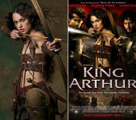 Keira Knightley 2004-ben Guinevere szerepében volt látható az Artúr királyban. A brit színésznő szinte már kórosan sovány, így aztán szembetűnő volt, hogy lapos mellei helyett nőiesebb kebleket photoshopoltak neki a film plakátjára.