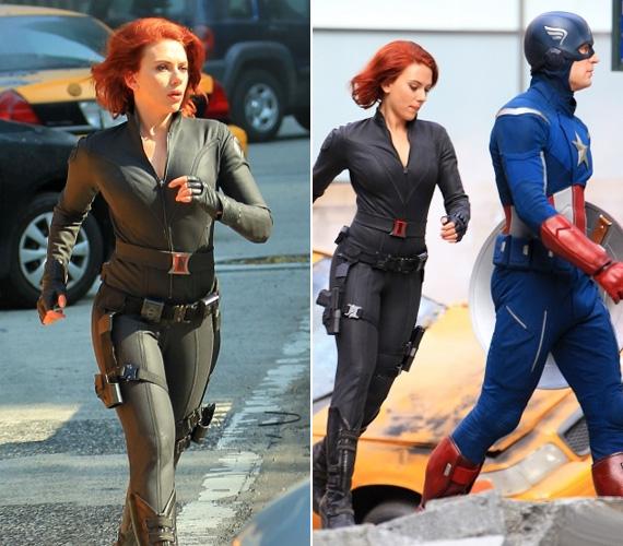 A The Avengers című, képregényen alapuló történetben Scarlett testhez simuló kosztümöt visel, fogyózott is előtte, hogy rámenjen a szűk hacuka.