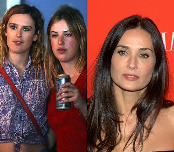 Az egykori színészpár középső lánya nem nagyon hasonlít édesanyjára.