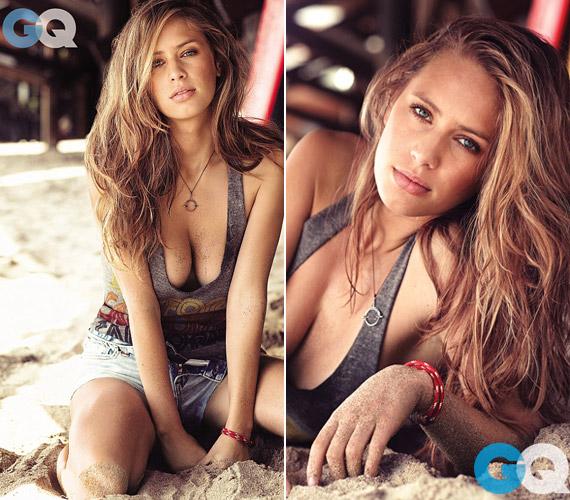 A sztárcsemetéről szexi pózokban a strandon készültek felvételek a GQ számára.