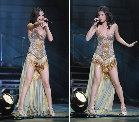 Flitteres ruhája kétségkívül igazán merész és szemkápráztató volt - talán még Madonna sem merte volna felvenni.