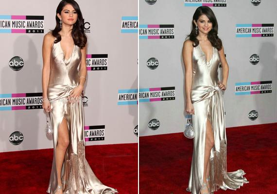 A 2011-es VMA-díjátadón viselt ezüst ruhája is igazán remekül állt neki, bár többek szerint kicsit sokat mutatott belőle.