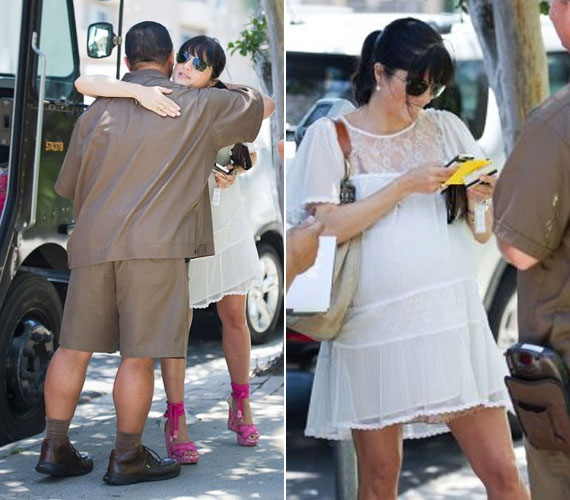 A biztosítási adatok egyeztetése után a színésznő még egy ölelést is kapott a megkönnyebbült sofőrtől.