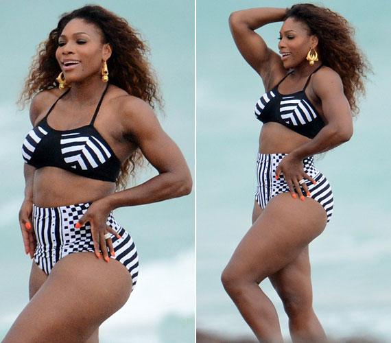Idén áprilisban még egy bikinis fotózáson is részt vett Miamiban - annak ellenére, hogy nem az a tipikus bikinis alkat.