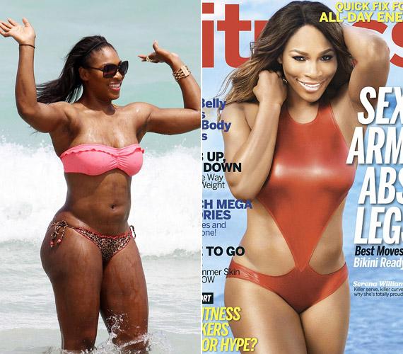 Bár állítása szerint nem szégyelli az alakját, azért a magazinok címlapján még segítségül hívta a Photoshopot.