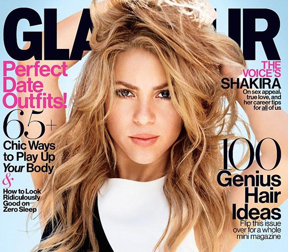 A Glamour 2014. februári számának címlapján pózol Shakira.