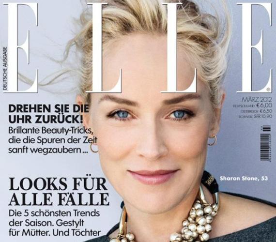 A 2012 márciusában Németországban megjelent Vouge címlapján is szinte minden ráncát eltüntették, de legalább megőrizték egy érett nő képét.