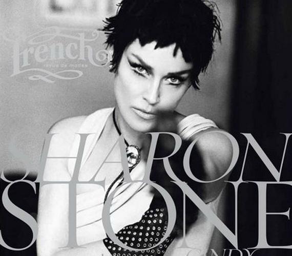 A French Revue de Modes magazin 2012-es tavaszi-nyári kiadásán sem sokan ismernék fel Sharon Stone-t rövid fekete hajjal.