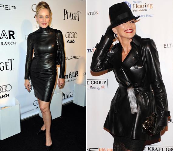 Az 57 éves színésznő gyakran bújik szűk bőrruhákba, amelyek még most is remekül állnak neki. A jobb oldali kép Elton John AIDS ellen létrehozott alapítványának nyolcadik gáláján készült.