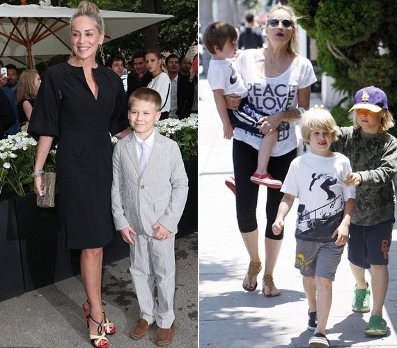 A színésznő Roanról sem feledkezett meg, a bal oldali fotón együtt láthatóak egy gálán. A jobb oldali néhány évvel ezelőtt készült, amikor a színésznő egyszerre vigyázott mindhárom gyerekre.