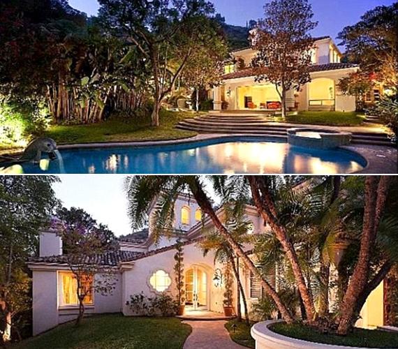 A Beverly Hills-i birtok a kiváncsi szemek elől el van rejtve, hatalmas kőkerítéssel védték a fotósok elől.