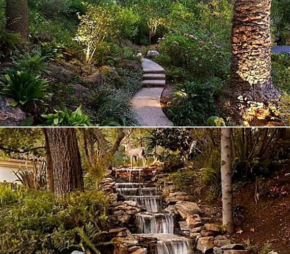 Meditációs parkot is kialakítottak, a birtokon pedig számos kisebb patak is csordogál.