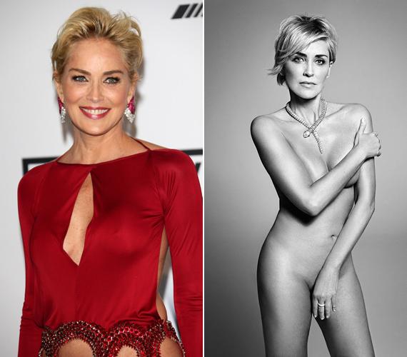 Sharon Stone ruhában és ruha nélkül. Az 57 éves színésznő mindenkit meglepett, amikor le merte dobni a textilt.