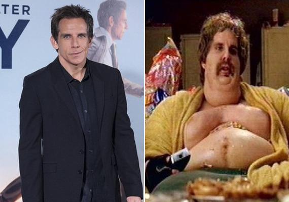 Ben Stiller a 2004-es filmben, a Kidobós: Sok flúg disznót győzben vált dagivá.