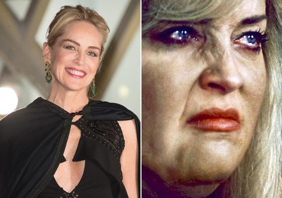 Sharon Stone csak pár percig szerepel a filmben, és jószerével felismerhetetlenre maszkírozták.