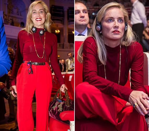 Mindenkit lenyűgözött vörös szerelésében a Nobel-díjasok csúcstalálkozóján, bár pechjére készültek róla előnytelen képek is.