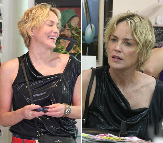 Sharon Stone a múlt héten azt nyilatkozta a német Elle magazinnak, hogy nem mossa a haját naponta, mert úgy gondolja, a bőrnek rosszat tesz, ha túl sok tisztálkodószerrel érintkezik. Talán emiatt volt tegnap ilyen a frizurája.