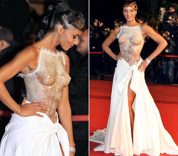 A francia énekesnő, Shy'm felül átlátszó ruhában érkezett az NRJ Awards díjkiosztó gálára.