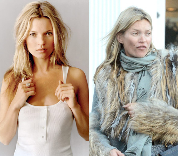 Kate Moss is csak sminkkel az arcán tűnik a világ legszexisebb nőjének.