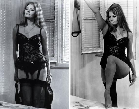 A fiatal Sophia Loren nőies idomait a férfiak csodálták, a nők irigyelték.