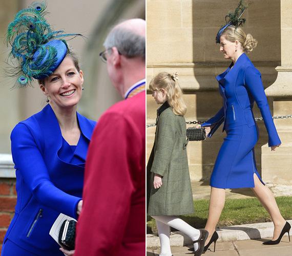 Wessex grófnéja egy igazán különleges kosztümben jelent meg a királyi családdal húsvétvasárnap a templomban: nemcsak a színe, a szabása is vonzotta a tekinteteket - a pávatollakról díszített kalapról nem is beszélve.